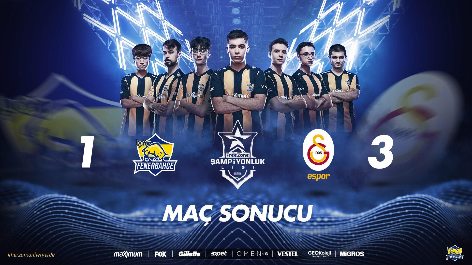 Fenerbahçe vs Galatasaray Espor LoL